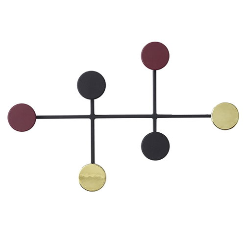 Menu Afteroom coat hanger, black-brass