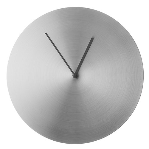 Menu Norm wall clock, brushed steel