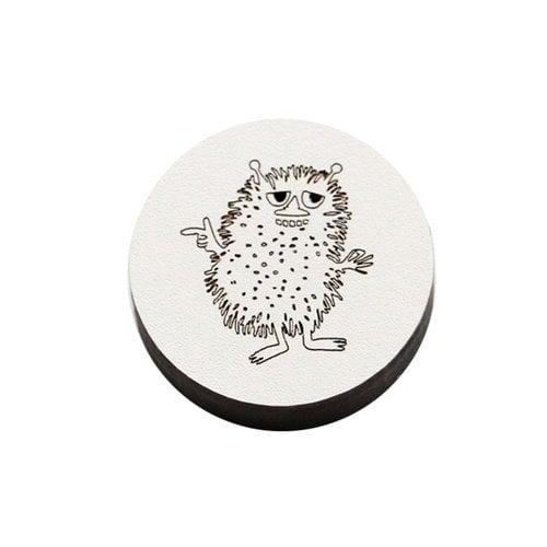 Kotonadesign Wooden magnet Haisuli, grey