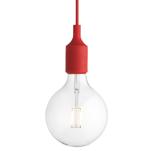 Muuto E27 LED socket lamp, red