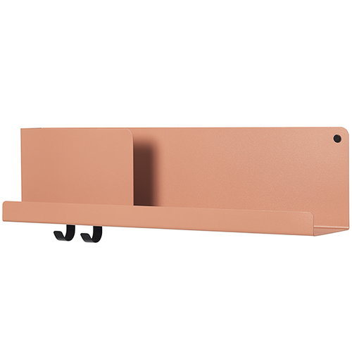 Muuto Folded shelf, light terracotta, medium