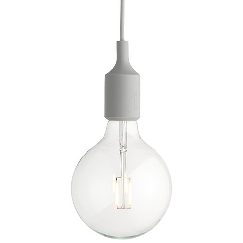 Muuto E27 LED socket lamp, light grey