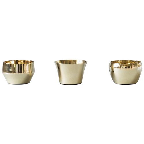 Skultuna Kin tealight set of 3, brass