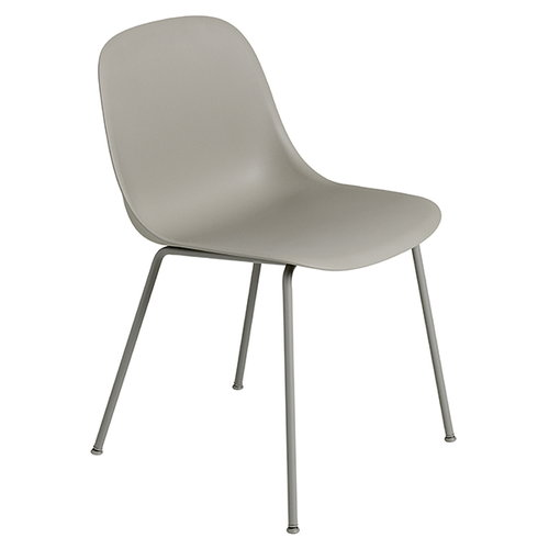 Muuto Fiber side chair, tube base, grey
