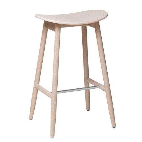 Massproductions Icha bar stool, 65 cm, white oiled oak