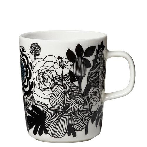 Marimekko Oiva - Siirtolapuutarha mug 2,5 dl, black-white