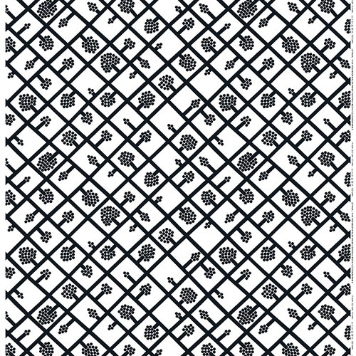 Marimekko Spalj� fabric, white - grey