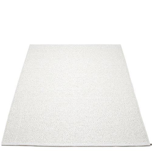 Pappelina Svea matto, 140 x 220 cm, white metallic