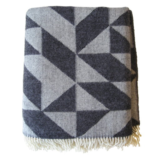 Ratzer Twist a Twill blanket, dark grey