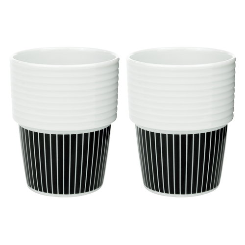 R�rstrand Filippa K coffee mug 0,31 L, 2 pcs, Pinstripes