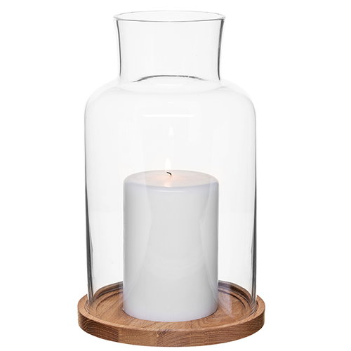 Sagaform Oak candle holder, large
