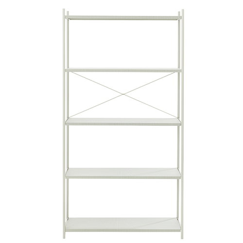 Ferm Living Punctual shelf, 1 x 5, grey