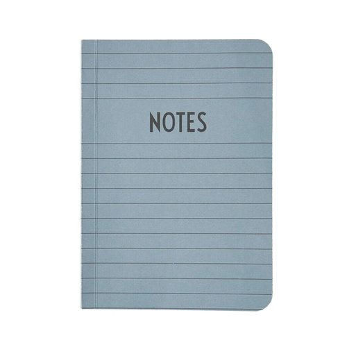 Design Letters Notebook A6, grey