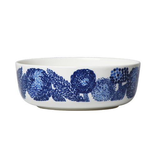 Marimekko Oiva - Mynsteri bowl 4 dl, blue - white
