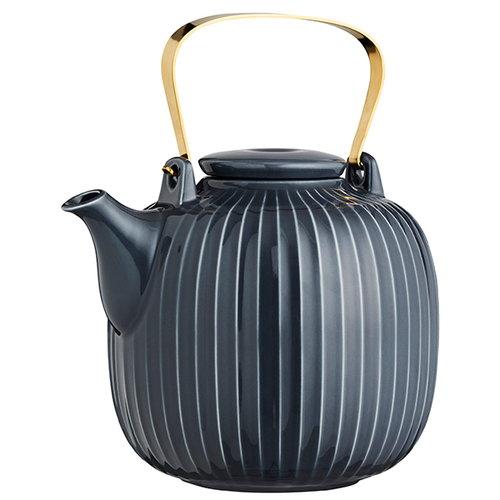 K�hler Hammersh�i teapot, anthracite