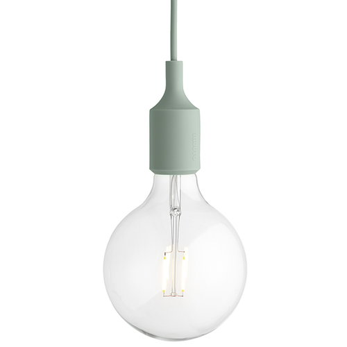 Muuto E27 LED socket lamp, light green