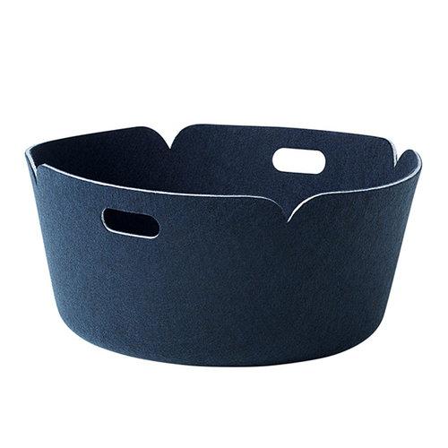 Muuto Restore round basket, midnight blue