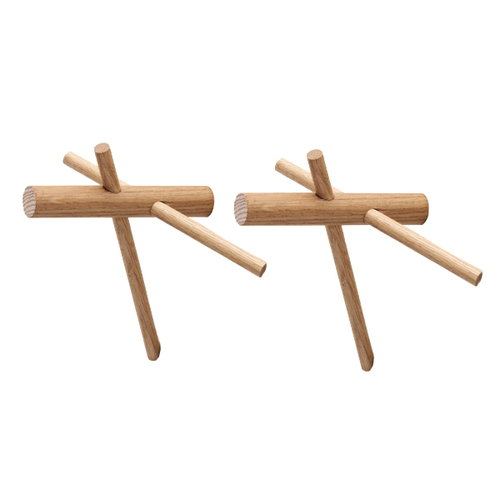 Normann Copenhagen Sticks hooks 2 pcs, oak