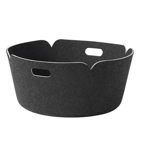 Muuto Restore round basket, black melange