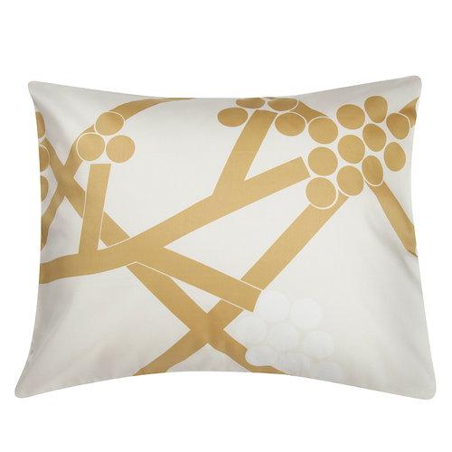 Marimekko Hortensie tyynyliina, valkoinen-kulta