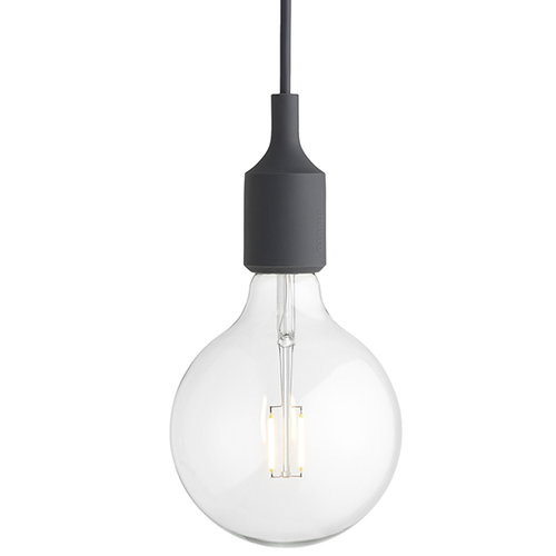 Muuto E27 LED socket lamp, dark grey
