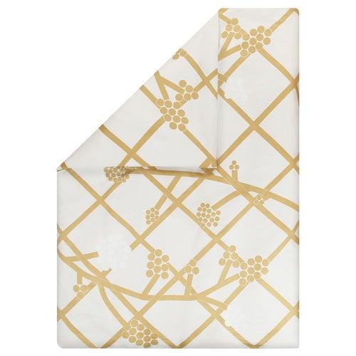 Marimekko Hortensie pussilakana, valkoinen-kulta