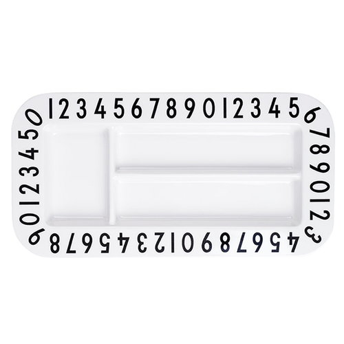 Design Letters Melamine rectangular snack plate