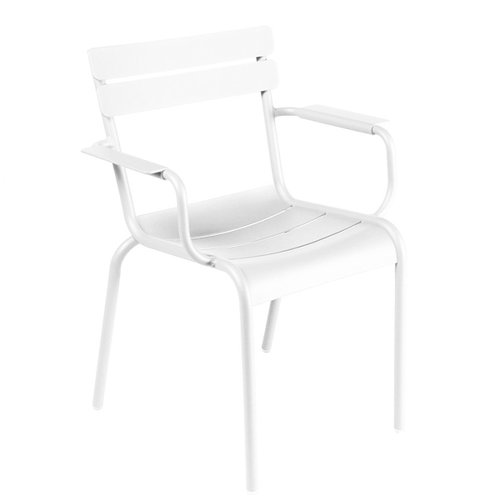 Fermob Luxembourg armchair, cotton white