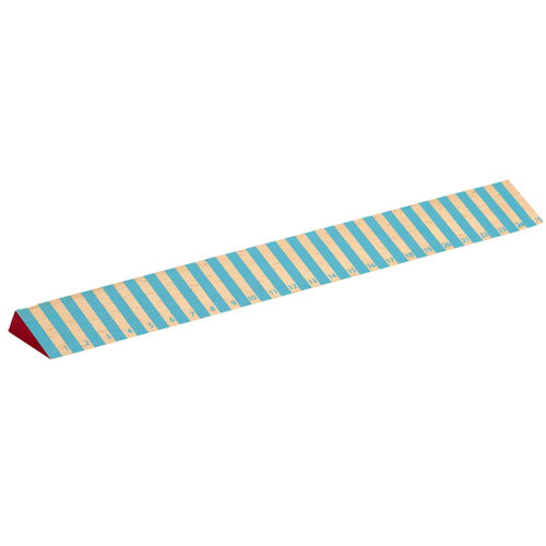 Hay Wooden ruler, thick blue stripes