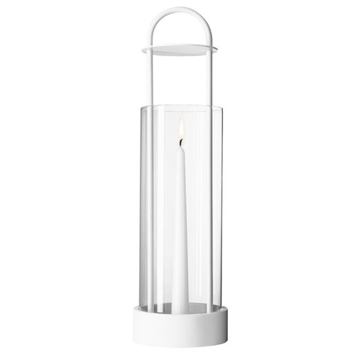 Design House Stockholm Lotus hurricane lantern, white