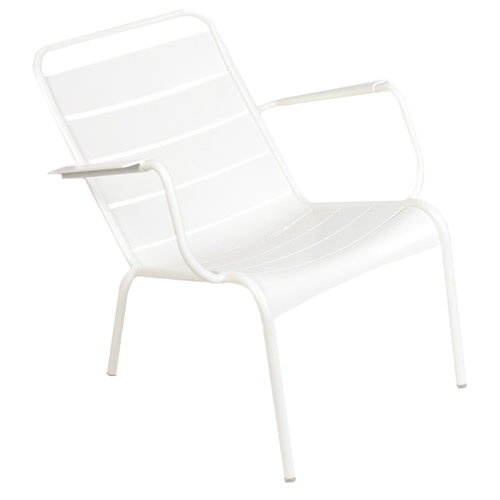 Fermob Luxembourg low armchair, cotton white