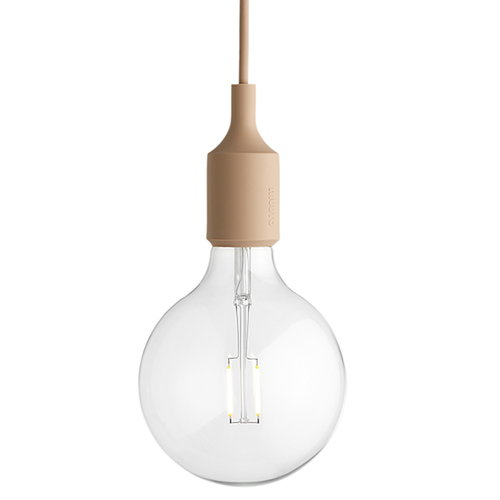 Muuto E27 LED socket lamp, nude