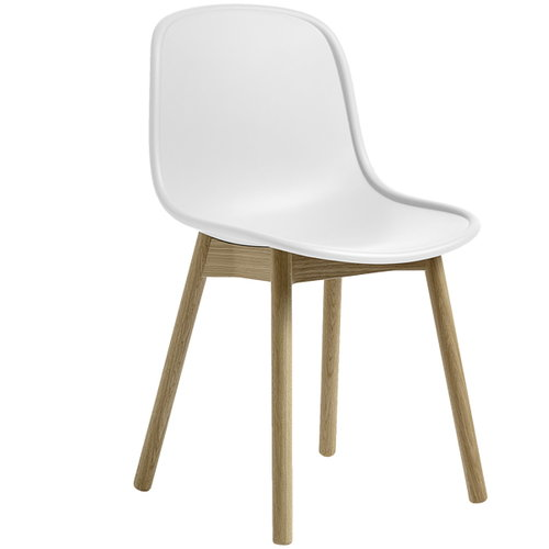 Hay Neu13 chair, white/matt lacquered ash