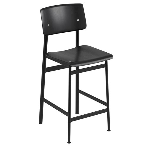 Muuto Loft bar stool 65 cm, black