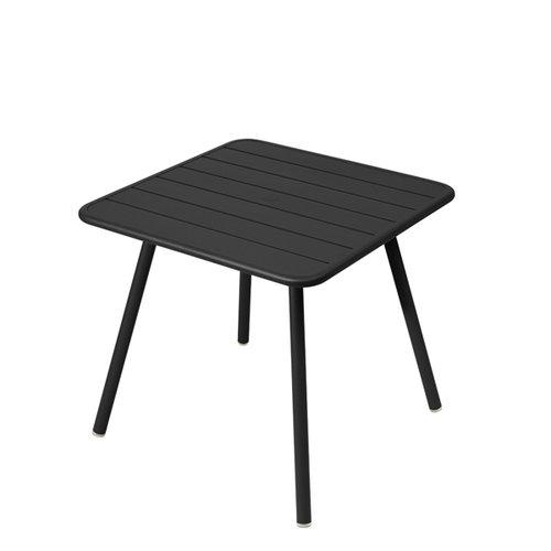 Fermob Luxembourg table, 80 x 80 cm, liquorice