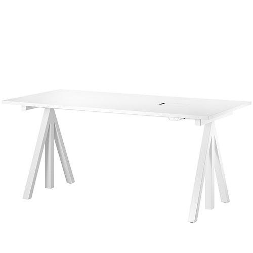 String String Works height adjustable work desk, 180 cm, white