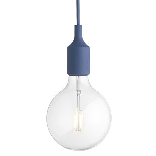 Muuto E27 LED socket lamp, pale blue