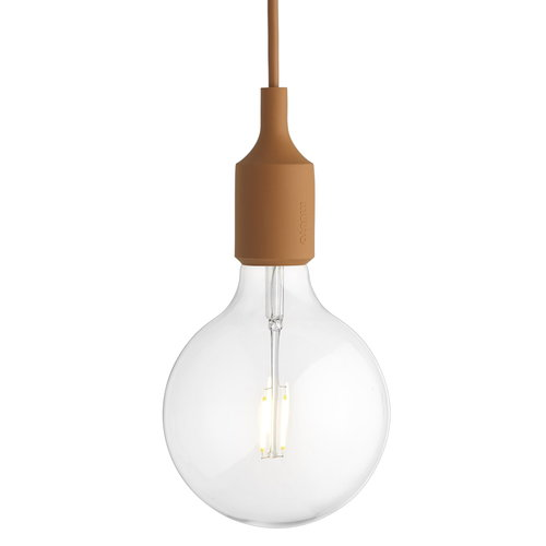 Muuto E27 LED socket lamp, clay brown