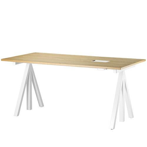 String String Works height adjustable work desk, 180 cm, oak