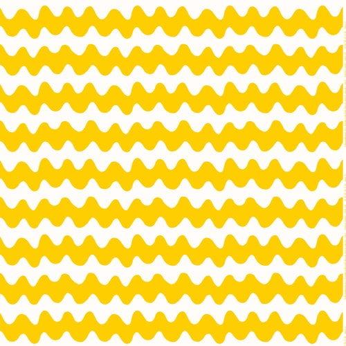 Marimekko Pikku Lokki fabric, white - yellow