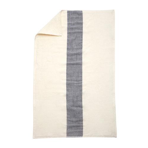 Skagerak Stripes k�sipyyhe 50 x 100 cm, valkoinen / tummansininen