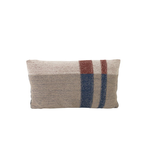 Ferm Living Medley Knit cushion, small, dark blue