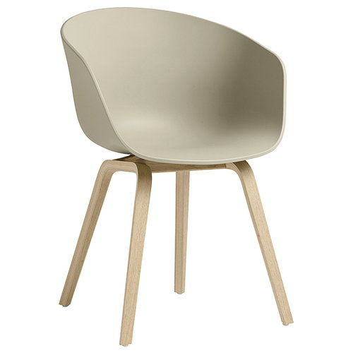 Hay About A Chair AAC22, matt lacquered oak - pastel green