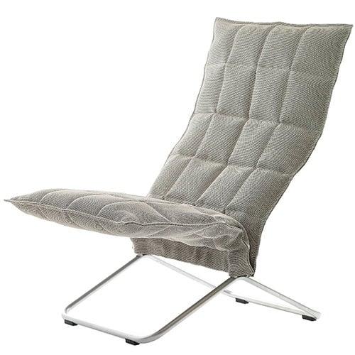 Woodnotes K tuoli, kapea, kitti/musta