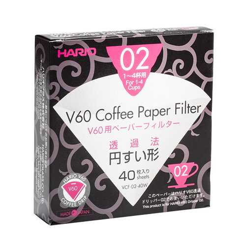 Hario Hario V60 suodatinpaperit, 40 kpl