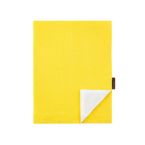 Langø Pillowcase, linen, yellow-white