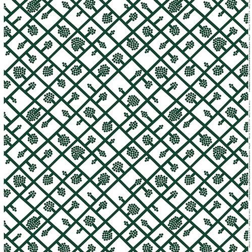 Marimekko Spalj� fabric, white - green