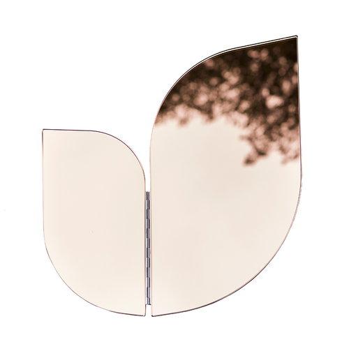 Katriina Nuutinen Perho peili, pieni, vaaleanpunainen/kupari