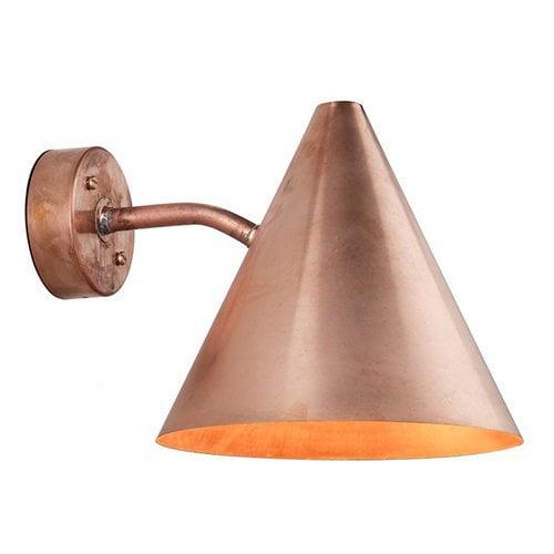 �rsj� Tratten wall lamp, outdoor, copper