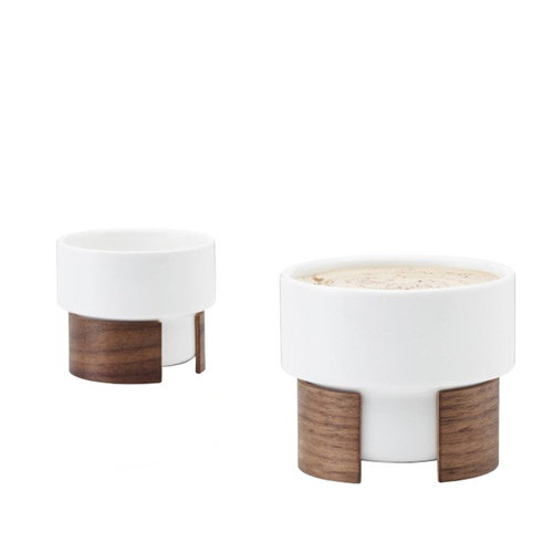 Tonfisk Design Warm cappuccino cup 1,6 dl, set of 2, walnut